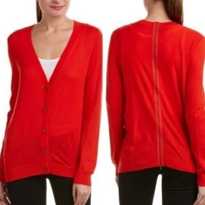 Cabi #3155 cobblestone red cardigan sweater